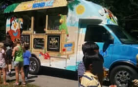 Kona Ice snow cone truck for birthdays