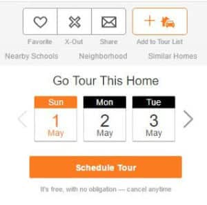How to schedule a tour with Redfin
