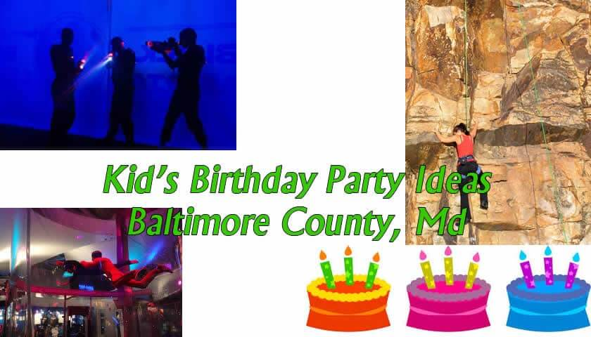 Kid's Birthday Party Ideas in Baltimore County